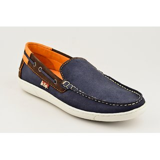 Lee Cooper Mens Blue Casual Slip On Shoes