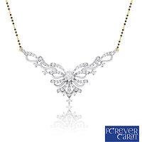 0.48ct Natural White Diamond Mangalsutra 925 Sterling Silver Mangalsutra M-0049