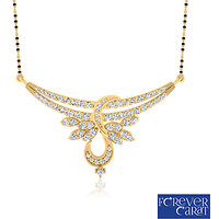 0.68ct Natural White Diamond Mangalsutra 14K Hallmarked Gold Mangalsutra M-0046G