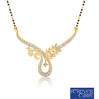 0.28ct Natural Round Diamond Mangalsutra 14K Hallmarked Gold Mangalsutra M-0047G