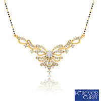 0.48ct Natural Round Diamond Mangalsutra 14K Hallmarked Gold Mangalsutra M-0049G