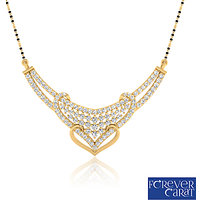 0.78ct Natural White Diamond Mangalsutra 14K Hallmarked Gold Mangalsutra M-0050G
