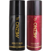 Mezno Fragrance Deodorant Body Spray For Men- Pack Of 2- 150ml Each