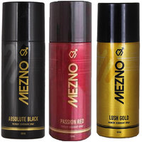 Mezno Fragrance Deodorant Body Spray For Men- Pack Of 3- 150ml Each - 92266155