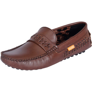 Fausto MenS Brown Casual Loafers (FST 770 BROWN)
