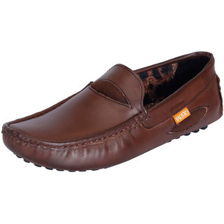 Fausto MenS Brown Casual Loafers (FST 772 BROWN)