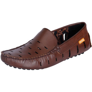 Fausto MenS Brown Casual Loafers (FST 775 BROWN)