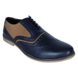 Monkx MenS Blue Casuals Lace-Up Shoes (BLM-708-BLUE)
