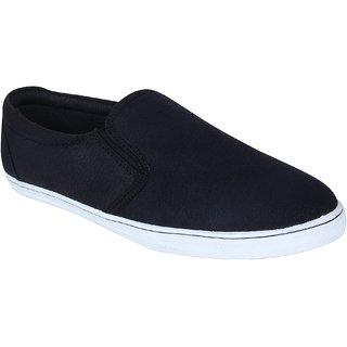 Monkx MenS Black Casuals Slip On Shoes (BLX-05-BLACK)