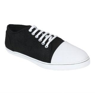 Monkx MenS Black Casuals Lace-Up Shoes (BLX-09-BLACK)