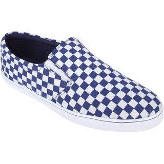 Monkx MenS Blue Casuals Slip On Shoes (BLX-21-BLUE)