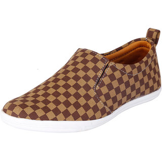 Fausto MenS Brown Casual Loafers (FST 1021 TAN BROWN)