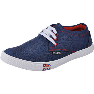 Fausto MenS Blue Casuals Lace-Up Shoes (FST 1078 BLUE)