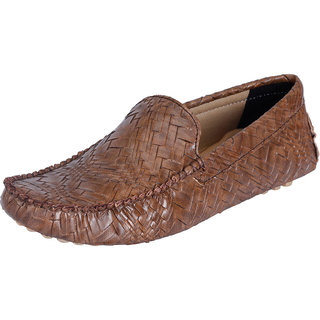 Fausto MenS Brown Casual Loafers (FST 794 BROWN)