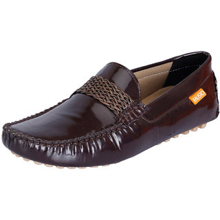 Fausto MenS Brown Casual Loafers (FST 799 BROWN)