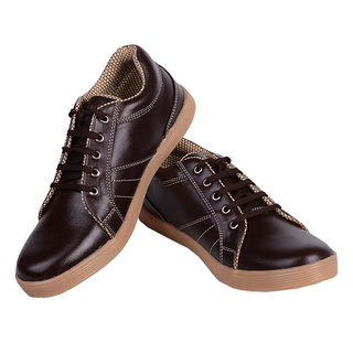 Tiacoo Brown  Canvas Shoes For Men - 92315246
