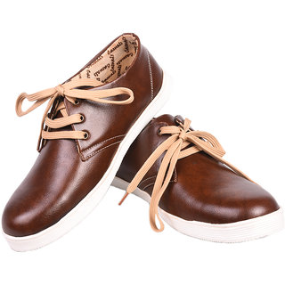Tiacoo Brown  Canvas Shoes For Men