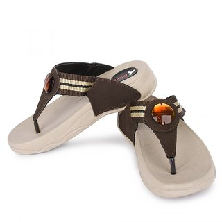 Pure Women's Brown Stylish And Trendy Slippers