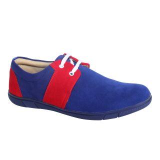 Monkx MenS Blue Casuals Lace-Up Shoes (1003-1-BLUE)