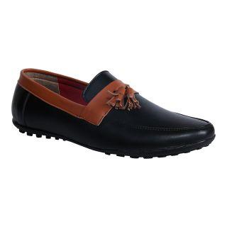 Monkx MenS Black Casuals Slip On Shoes (1023-18-BLACK)