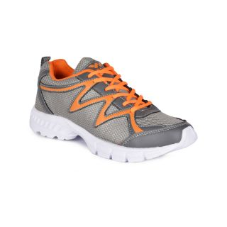 Wega Life RUN Grey/Orange/White Mens Running Shoes