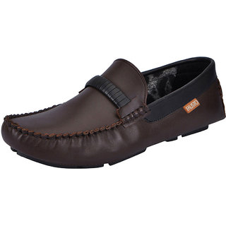Fausto MenS Brown Casual Loafers (FST 1509 BROWN)