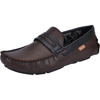 Fausto MenS Brown Casual Loafers (FST 1510 BROWN)