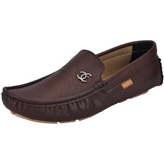 Fausto MenS Brown Casual Loafers (FST 1518 BROWN)