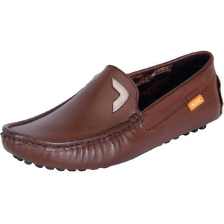 Fausto MenS Brown Casual Loafers (FST 666 BROWN)