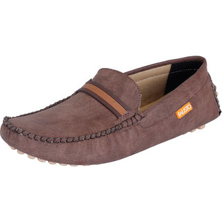 Fausto MenS Brown Casual Loafers (FST 737 BROWN)