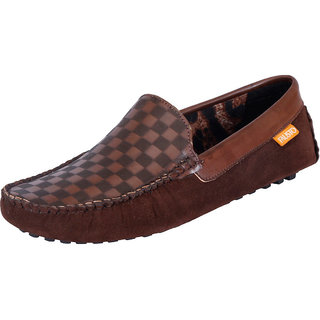 Fausto MenS Brown Casual Loafers (FST 766 BROWN)