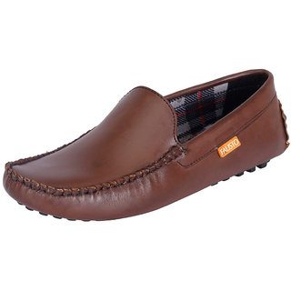 Fausto MenS Brown Casual Loafers (FST 777 BROWN)