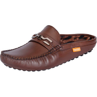 Fausto MenS Brown Casual Loafers (FST 780 BROWN)