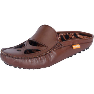 Fausto MenS Brown Casual Loafers (FST 781 BROWN)