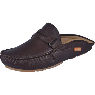 Fausto MenS Brown Casual Loafers (FST 782 BROWN)