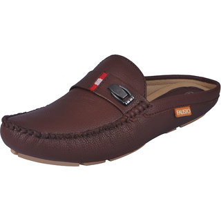 Fausto MenS Brown Casual Loafers (FST 783 BROWN)