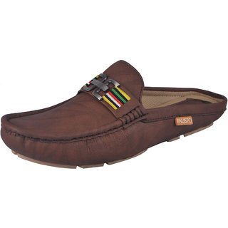 Fausto MenS Brown Casual Loafers (FST 784 BROWN)