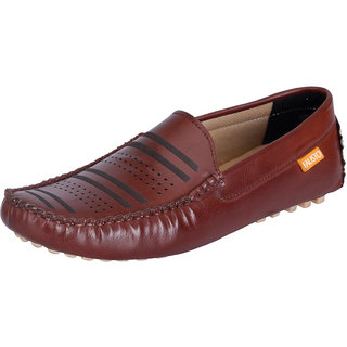 Fausto MenS Brown Casual Loafers (FST 791 BROWN)