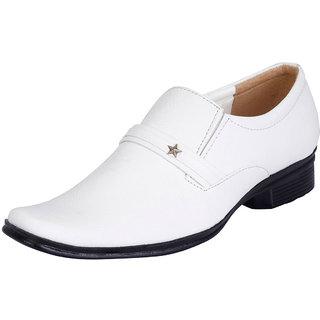 Fausto MenS White Formal Slip On Shoes (FST 1029 WHITE)
