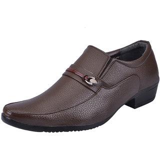 Fausto MenS Tan Formal Slip On Shoes (FST 1606 TAN)