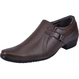 Fausto MenS Tan Formal Slip On Shoes (FST 1608 TAN)