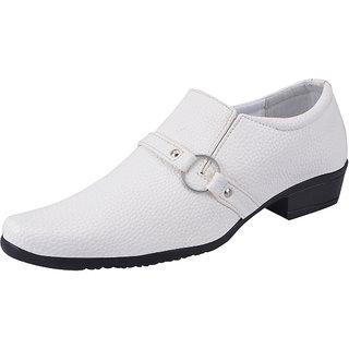 Fausto MenS White Formal Slip On Shoes (FST 1609 WHITE)
