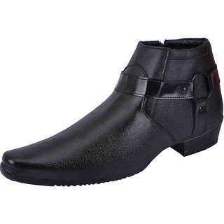 Fausto MenS Black Formal Slip On Shoes (FST 1671 BLACK)