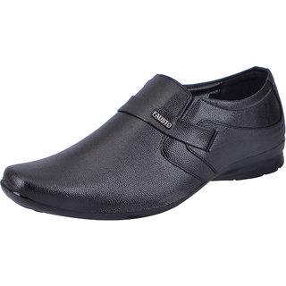 Fausto MenS Black Formal Slip On Shoes (FST 1672 BLACK)