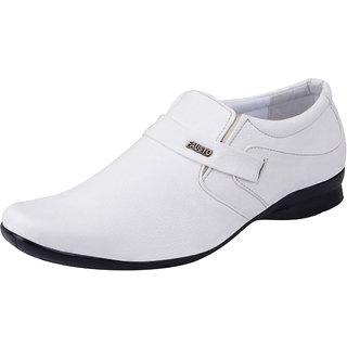 Fausto MenS White Formal Slip On Shoes (FST 1672 WHITE)