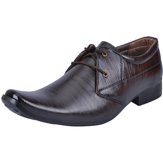 Fausto MenS Brown Formal Lace-Up Shoes (FST 3202 RODIO)