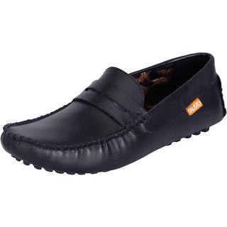 Fausto MenS Black Casual Loafers (FST 111 BLACK)