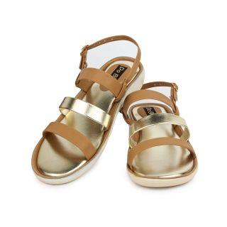 Do Bhai Womens Brown Open Toe Sandals (KM-2200-Brown)