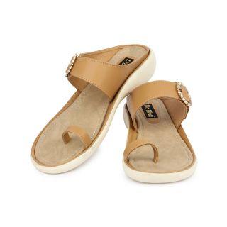 Do Bhai Womens Brown Wedge Heel Sandals (KM-3000-Brown)