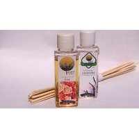 Reed Diffuser Refill 50ml. Bottles, Set Of 2 With 12 Sticks